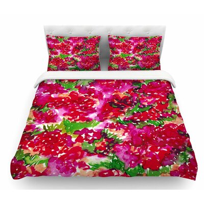 Floral Assumption by Ebi Emporium Featherweight Duvet Cover Size: King