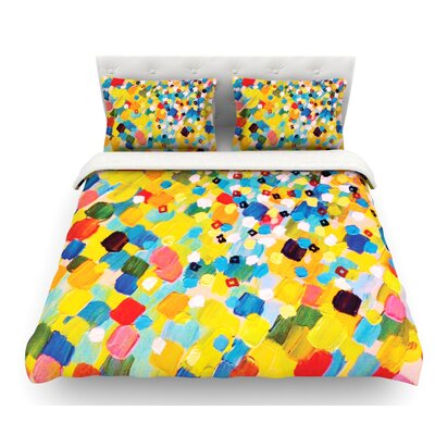 Swept Away by Ebi Emporium Featherweight Duvet Cover Size: Full/Queen, Fabric: Woven Polyester