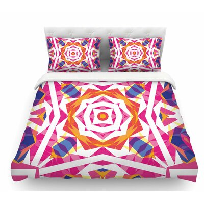 Paradise Indigo Featherweight Duvet Cover Size: Queen