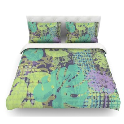 Verdure Collage by Chickaprint Featherweight Duvet Cover Size: Queen, Fabric: Cotton