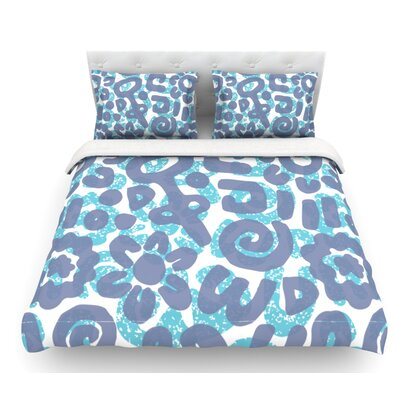 Tribus by Chickaprint Featherweight Duvet Cover Size: Queen, Fabric: Woven Polyester