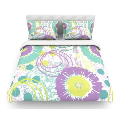 Splatter by Chickaprint Featherweight Duvet Cover Size: Twin, Fabric: Woven Polyester