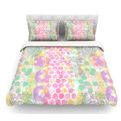 Impression by Chickaprint Pastel Mix Featherweight Duvet Cover Size: King, Fabric: Lightweight Polyester