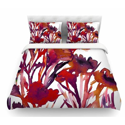 Pocket Full of Posies by Ebi Emporium Featherweight Duvet Cover Size: Queen