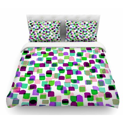 Retro Mod Dots 3 by Ebi Emporium Featherweight Duvet Cover Size: Queen