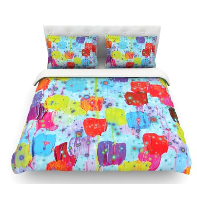 Speckle Me Dotty by Ebi Emporium Featherweight Duvet Cover Size: Twin