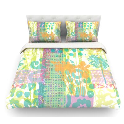 Dazed by Chickaprint Pastel Splatter Featherweight Duvet Cover Size: Queen, Fabric: Lightweight Polyester