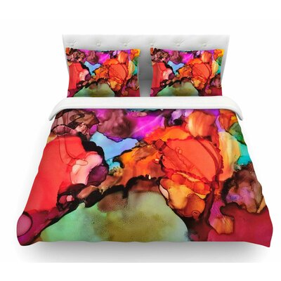 Caldera #3 by Abstract Anarchy Design Featherweight Duvet Cover Size: King