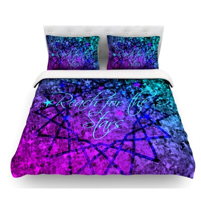 Reach for the Stars by Ebi Emporium Featherweight Duvet Cover Size: Queen