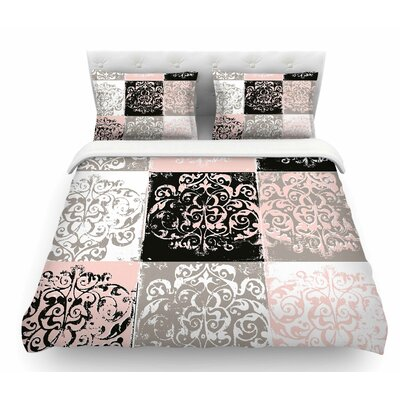 Damaskmix by Chickaprint Featherweight Duvet Cover Size: King