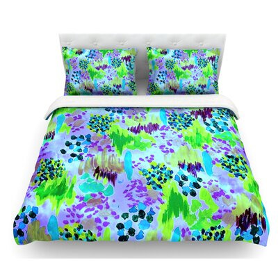 Lagoon Love by Ebi Emporium Featherweight Duvet Cover Size: Queen