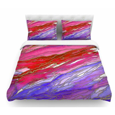 Agate Magic by Ebi Emporium Geological Featherweight Duvet Cover Size: Queen