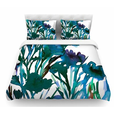 Petal for Your Thoughts by Ebi Emporium Featherweight Duvet Cover Size: Queen