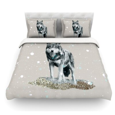 Wolf by Monika Strigel Featherweight Duvet Cover Size: Twin
