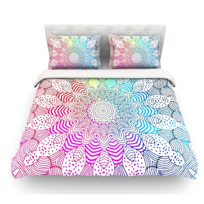 Dots by Monika Strigel Featherweight Duvet Cover Size: King, Fabric: Lightweight Polyester