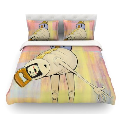 Good Day by Matthew Reid Featherweight Duvet Cover Size: Twin, Fabric: Lightweight Polyester