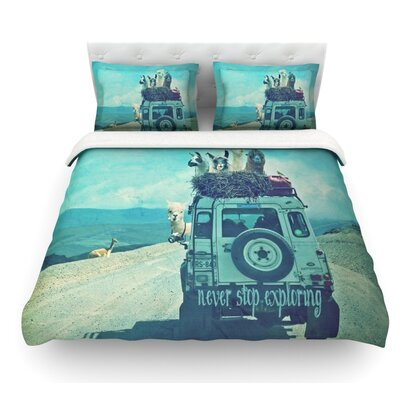 Never Stop Exploring III by Monika Strigel Featherweight Duvet Cover Size: Queen