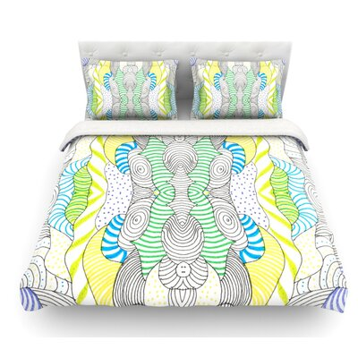 Wormland by Monika Strigel Featherweight Duvet Cover Size: Twin