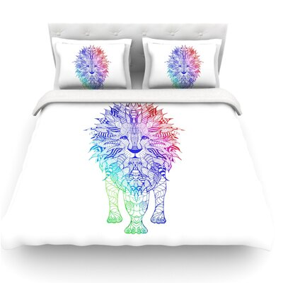 Lion by Monika Strigel Featherweight Duvet Cover Size: King, Fabric: Lightweight Polyester