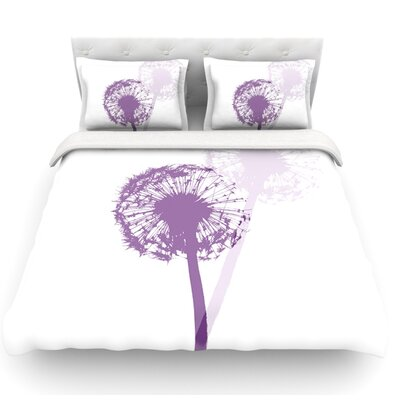 Dandelion by Monika Strigel Flower Featherweight Duvet Cover Size: Queen