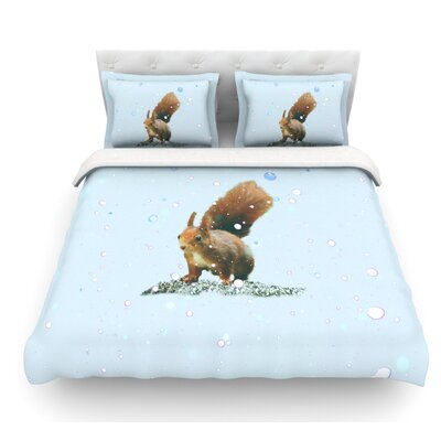 Squirrel by Monika Strigel Featherweight Duvet Cover Size: King