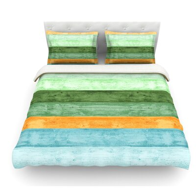 Beach Wood by Monika Strigel Featherweight Duvet Cover Color: Blue, Size: Full/Queen, Fabric: Woven Polyester