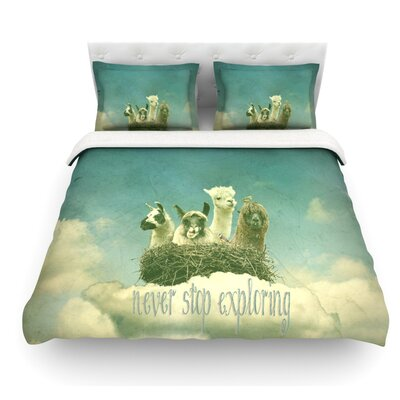 Never Stop Exploring by Monika Strigel Featherweight Duvet Cover Size: King