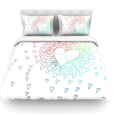 Hearts by Monika Strigel Featherweight Duvet Cover Size: Queen