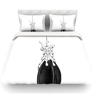 17 by Matthew Reid Featherweight Duvet Cover Size: King