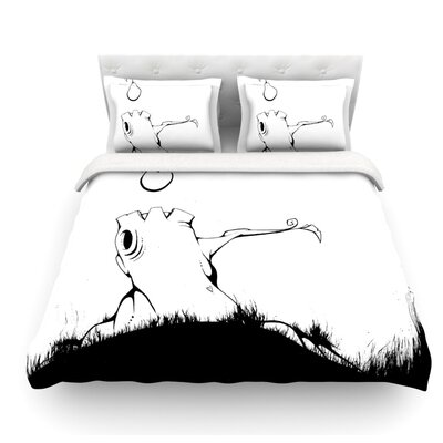 Its Alright by Matthew Reid Featherweight Duvet Cover Size: Queen, Fabric: Lightweight Polyester