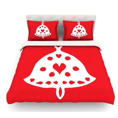 Jingle Bell by Miranda Mol Holiday Featherweight Duvet Cover Size: Twin