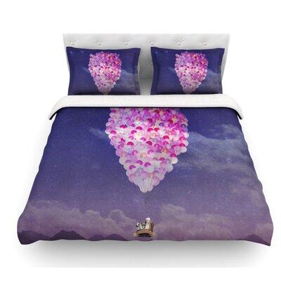 Never Stop Exploring IV by Monika Strigel Featherweight Duvet Cover Size: Queen, Fabric: Lightweight Polyester