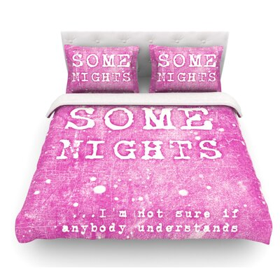 Some Nights by Monika Strigel Featherweight Duvet Cover Size: King
