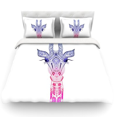Giraffe by Monika Strigel Featherweight Duvet Cover Size: Twin