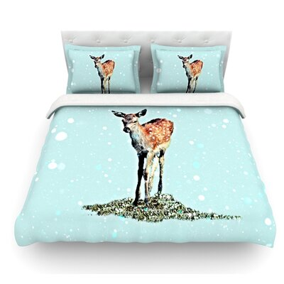 Fawn by Monika Strigel Featherweight Duvet Cover Size: Twin
