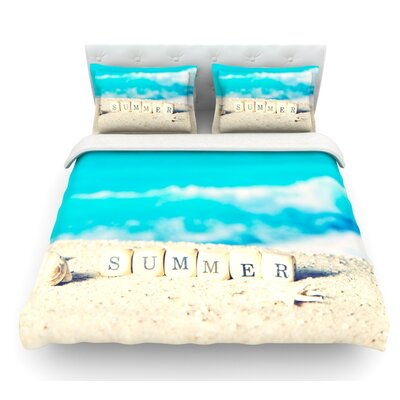 Summer at the Beach by Monika Strigel Coastal Featherweight Duvet Cover Size: Twin