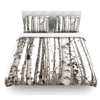 Birchwood by Monika Strigel Forest Featherweight Duvet Cover Size: Twin
