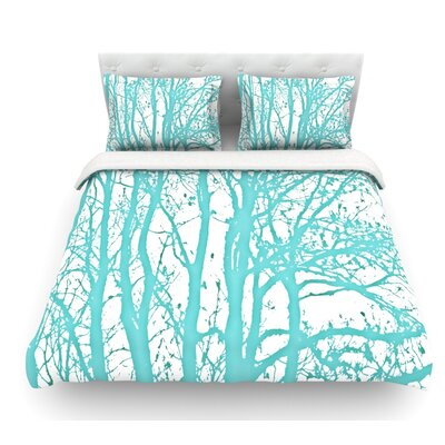 Trees by Monika Strigel Featherweight Duvet Cover Size: Queen, Fabric: Lightweight Polyester