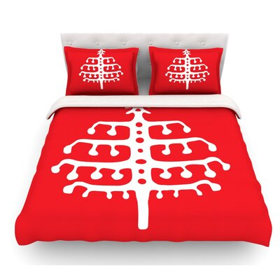 Deco Tree by Miranda Mol Holiday Featherweight Duvet Cover Size: King