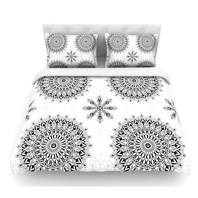 Mandala by Julia Grifol Featherweight Duvet Cover Size: Queen