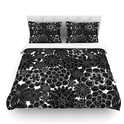 Flowers by Julia Grifol Featherweight Duvet Cover Size: Queen