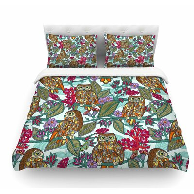 My Boobooks Owls by Julia Grifol Featherweight Duvet Cover Size: Queen
