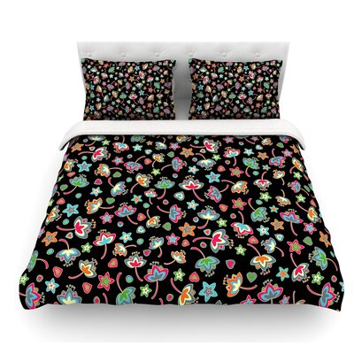 Sweet Flowers by Julia Grifol Featherweight Duvet Cover Size: Queen