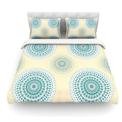 Soft Mandalas by Julia Grifol Featherweight Duvet Cover Size: King