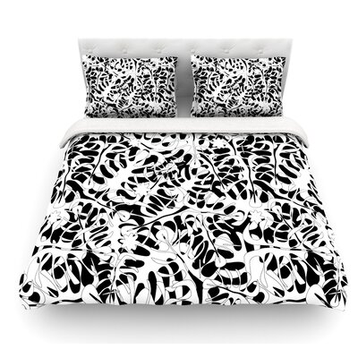 Leaves by Julia Grifol Featherweight Duvet Cover Size: Queen