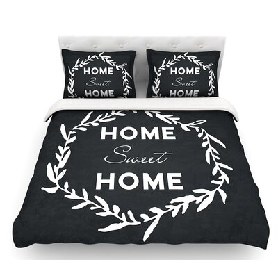 Home Sweet Home  Featherweight Duvet Cover Size: Queen