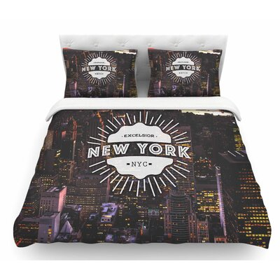 New York  Featherweight Duvet Cover Size: Twin