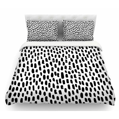 Ink Dots  Featherweight Duvet Cover Size: King
