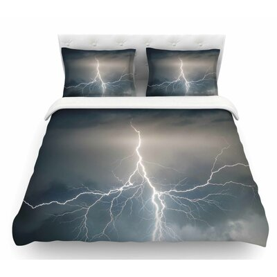 Lightning Storm  Featherweight Duvet Cover Size: King