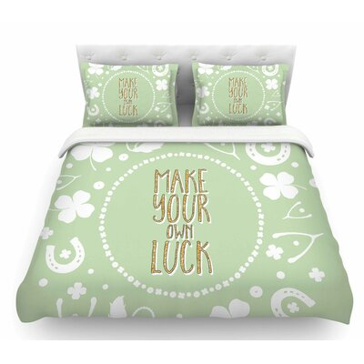 Own Luck  Pastel Featherweight Duvet Cover Size: King